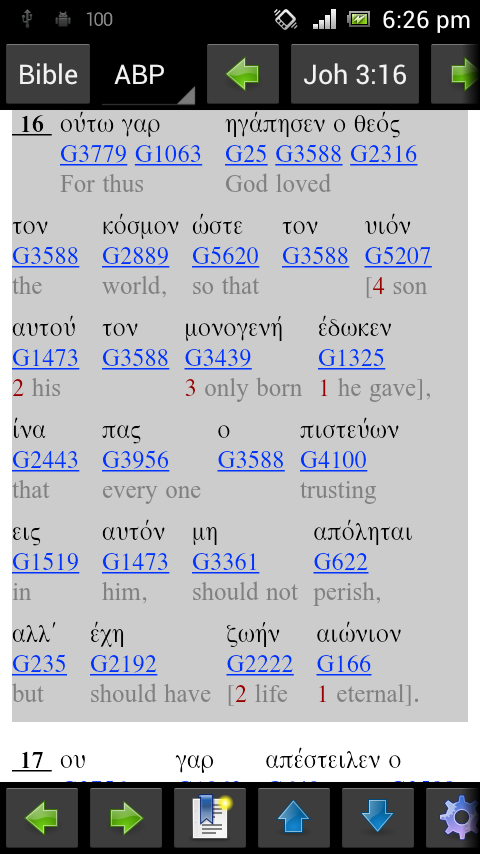 Interlinear ABP